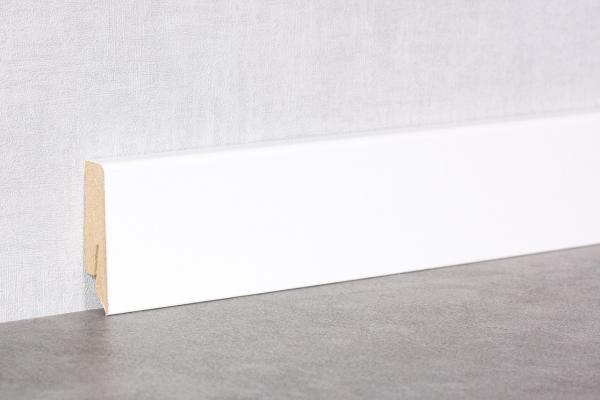 Sockelleiste 58mm Cube K58C | Weiß