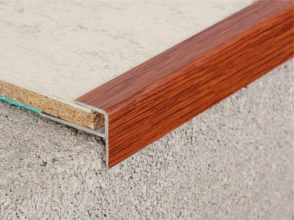 Alu - Treppenkantenprofil 120 cm, Merbau